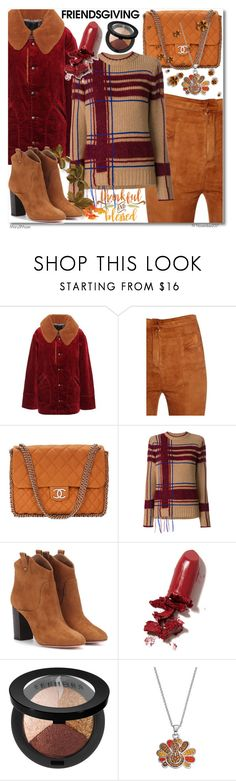 """Gather 'Round: Friendsgiving"" by octobermaze ❤ liked on Polyvore featuring Marc Jacobs, Balmain, Chanel, Tory Burch, Aquazzura, LAQA & Co., Sephora Collection and friendsgiving"