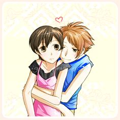 Hikaru x Haruhi.  For starters, have you seen a more adorable couple?  But beyond that, I think they really have (or could have had) something.  She really helped him come out of his shell, and he needed it.  I'm starting to think I have a problem with ships that will never be canon... Maybe I enjoy having my heart broken :(