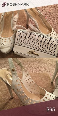 Bundle deal shoes with the matching purse by guess Matching guess set Guess Shoes Sandals