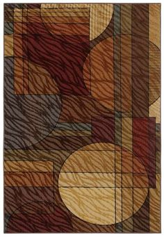 This area rugs contemporary styling reflects the casual but dynamic look of today's fashions in home decor