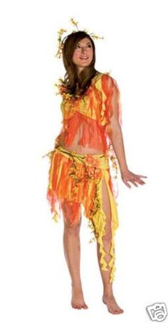 summer nymph fire goddess adult costume - Halloween Costume Fire