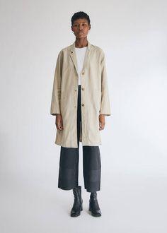 Fillmore Pinstripe Blazer in Natural