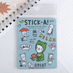DIY Cute Kawaii Transparent PVC Stickers Lovely Cartoon Bear Sticky Paper For Home Decoration Diary Free Shipping 968-in Memo Pads from Office & School Supplies on Aliexpress.com | Alibaba Group