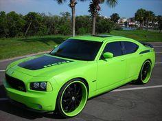 lime green black strips eclipse convertible - Google Search