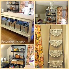 empty nested bedroom turned craft room, craft rooms, painted furniture, shelving ideas, storage ideas