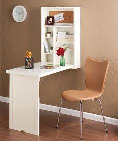 White Convertible Fold-Out Desk by Southern Enterprises #zulily #zulilyfinds