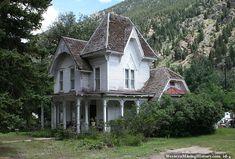 Historic Victorian Gothic Revival Farmhouse in Georgetown, Colorado.