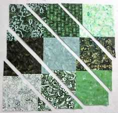 2 disappearing 9 patch blocks make 1 modern table runner Yesterday you learned how to finish up a stylish tote bag made from Banyan… Scrap Quilt Patterns, Beginner Quilt Patterns, Pattern Blocks, Quilted Placemat Patterns, Triangle Quilt Tutorials, Quilting Tutorials, Patchwork Table Runner, Table Runner Pattern, Quilted Table Runners