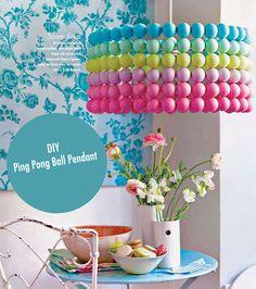 Ping Pong Ball Pendant