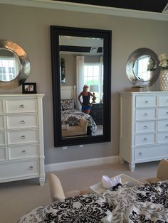 Image result for bedroom with tall dressers side by side