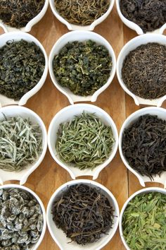 Different color teas are color inspiration for the home. I like these soothing colors for our spa bedroom.