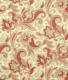 Waverly Rustic Retreat Crimson Fabric Like with the Stonington Circa Campfire floral