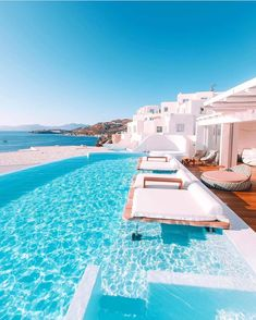 Cavo Tagoo Mykonos is only a walk to the beach, but once you've set up shop by the infinity pool, you might find it hard to leave… 📷: and the link in our bio to find your Mykonos escape Vacation Destinations, Dream Vacations, Vacation Spots, Holiday Destinations, Cavo Tagoo Mykonos, Destination Voyage, Beautiful Places To Travel, Travel Aesthetic, Oh The Places You'll Go