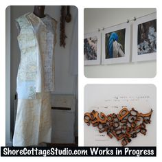 Three Things; Works in Progress, Rusted Map Couture, Typography Jewellery, Nature Photography