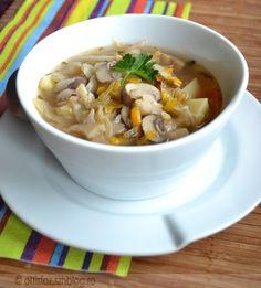 Gombás savanyúkáposzta leves   Ottis főz