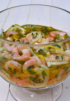 Pickled Shrimp - A Southern Soul Prawn Recipes, Fish Recipes, Seafood Recipes, Salad Recipes, Healthy Recipes, Healthy Food, Shrimp Appetizers, Shrimp Dishes, Appetizer Recipes