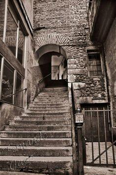 Las escaleras de la Plaza Mayor
