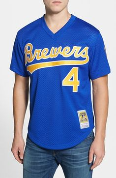 Men's Mitchell & Ness 'Paul Molitor - Milwaukee Brewers' Authentic Mesh BP Jersey