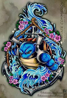 Blastoise Tattoo Commission 2 by RetkiKosmos on DeviantArt