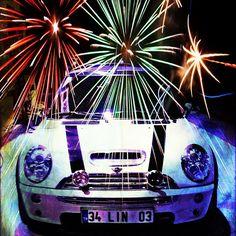 Happy New  Year! Mini One, Mini Coopers, Zoom Zoom, New Age, Fireworks, Happy New Year, Minis, Cars, Random