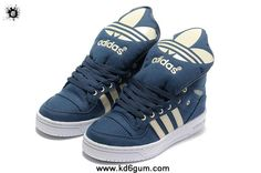 Cheap Adidas X Jeremy Scott Big Tongue Shoes Blue White