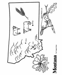 Illinois State outline Coloring Page States coloring Pinterest