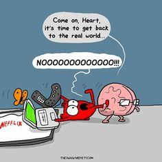 Tagged with funny, comic, creativity, awkward yeti; The Awkward Yeti Akward Yeti, The Awkward Yeti, Funny Cute, The Funny, Hilarious, Heart And Brain Comic, Mini Comic, Science Humor, Humor Grafico