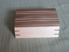 Handcrafted Wooden Box, Keepsake Box, Jewelry Box made of Walnut and Maple. #19 on Etsy, $35.00