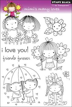 PENNY BLACK-T for Transparent Clear Stamps. These clear stamps are easy to use with any acrylic block (not included); and feature high- quality and affordable value. This package contains one