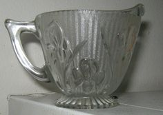 Jeanette Glass Depression Glass Iris and Herringbone Crystal $9.99