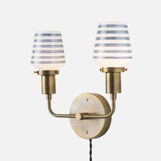 Double Abrams Plug-In Sconce