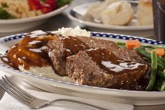 "In the 1950's diners were a popular place to go when you were cravin' classic and comforting tastes. Our Diner-Style Meatloaf recipe offers both of those, and it'll take you back to the ""good old days"" after just one bite!"