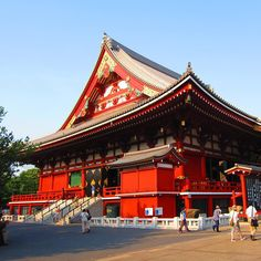 The main hall of Sensoji Temple in Asakusa. The temple was completed in 645 and is the oldest temple in Tokyo. The buildings of this shrine are relatively recent reconstructions.