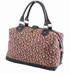 Ladies Womens Canvas Weekend Travel Holdall Maternity Shoulder Handbag Bag New   eBay