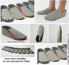 Create o Compra unas Zapatillas de Fieltro de una Pieza - enrHedando