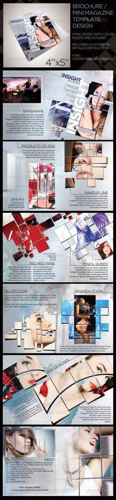 12 Page Mini Lifestyle Brochure Design Template