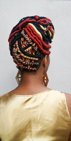 We used Luvly Locs to complete this yarn twist look
