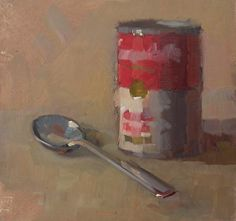Chicken Noodle by margaret mcwethy Oil ~ 8 x 7