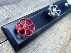 Ready to Ship / 22 Coat Rack with Vintage Valve by TheDoorStop, $56.00