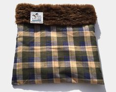 Plaid Cuddle Bag, Snuggle Sack, Hamster Bedding, Hedgehog Sack, Doxie Bed Warmer, Weenie Dog Bed, Pet Pouch, Small Chihuahua Bed, Guinea Pig #PlaidCuddleBag #HamsterBedding #SmallAnimalBed #HedgehogSack #SmallDogBed #SnuggleSack #DoxieBedWarmer #GuineaPigBed #WeenieDogBed #HedgeHogBed