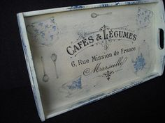 Bespoke French Country wooden tray rectangular by HandmadeByFiona, $44.00