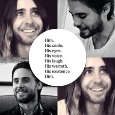 Why yes, perfection does exist in the form of Jared Leto. Thanks for your concern