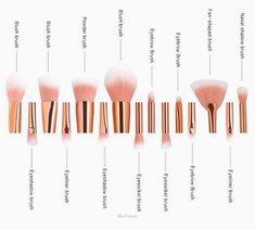 'Mermaid Queen' Professional 15PCS Mermaid Makeup Brushes Set