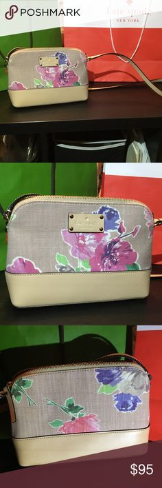 Kate Spade Wellesley Hanna Crossbody Pretty much like new! Tags still included.  Floral fabric. kate spade Bags Crossbody Bags