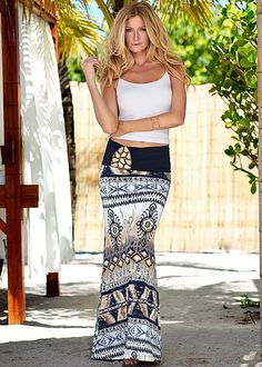 Stone detail maxi skirt from VENUS. Available in sizes XS-XL!