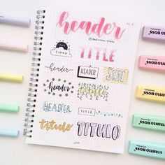 More headers for your notes, i know you love headers so, enj Bullet Journal School, Bullet Journal Fonts, Bullet Journal Headers, Bullet Journal Banner, Bullet Journal 2019, Bullet Journal Notebook, Bullet Journal Aesthetic, Bullet Journal Ideas Pages, Bullet Journal Inspiration