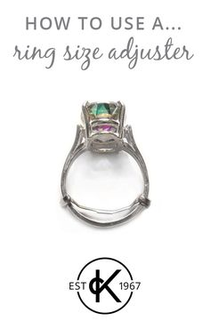 Awesome ring size adjuster Ring Size Adjuster Pinterest Craft