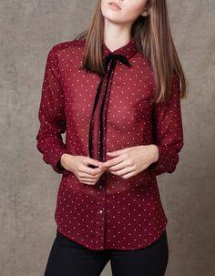 Camicia stampata fiocco - ABBIGLIAMENTO - DONNA  54ea9bb65d99