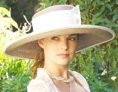 Kentucky Derby Hat. Cream & Taupe.