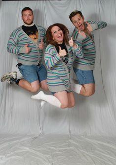 Taking awkward group photos.